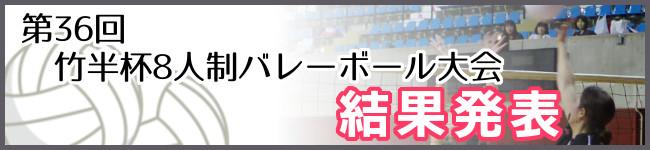 第36回竹半杯バレーボール大会結果発表